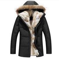 Raccoon Fur Warm White Duck Feather Coat Long Winter Jacket Women Down Parka Plus Size 2019 Rabbit Hair Hooded Outerwear
