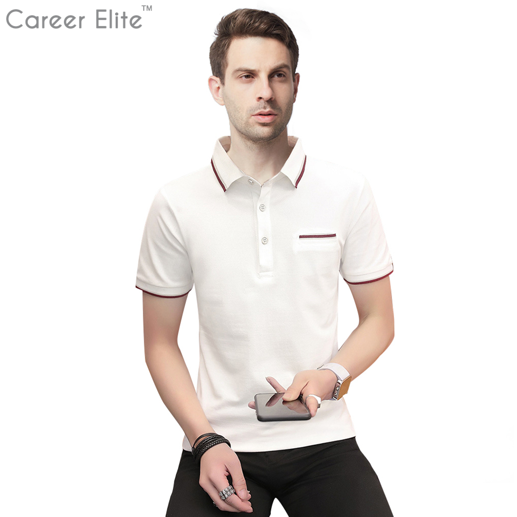 Brand Clothing New Men Polo Shirt Men Business Casual Solid Male