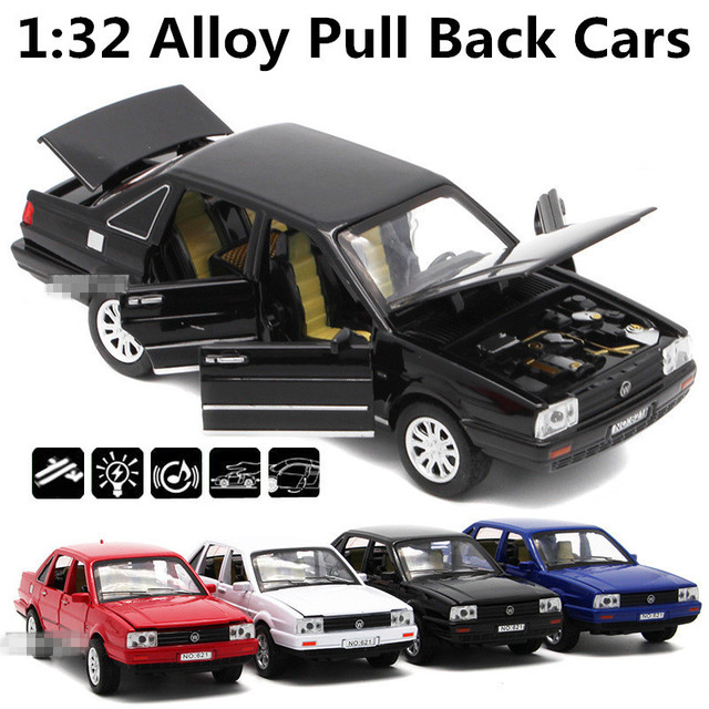 1:32 сплав вытяните назад автомобили, Сантана высокая имитационная модель, металл diecasts, игрушечных автомобилей, вытяните назад и мигать и музыкальные, бесплатная доставка