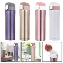 450 ml Botella Térmica de Acero Inoxidable Termo Aislantes Taza de Café Taza de Viaje Botella De Bebida en 4 Colores para el Recorrido/al aire libre/de Oficina