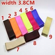 Цветные эластичные ленты из спандекса 38 мм Гладкая поверхность эластичная лента сумки для одежды брюки эластичные резиновые DIY Швейные аксессуары