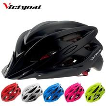 VICTGOAL Bicycle Helmets Matte Black Men Women Bike Helmet with Back Light Integrally Molded Cycling Helmets