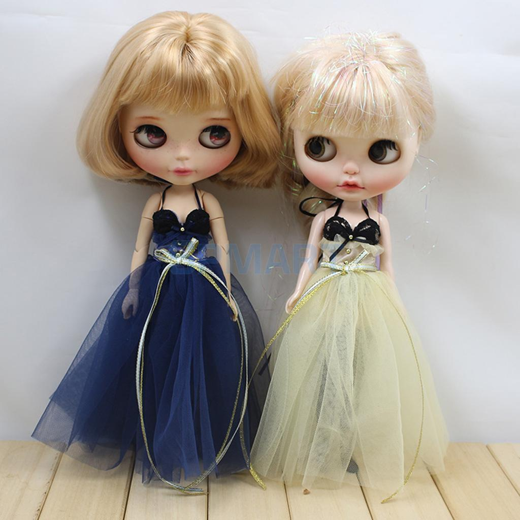 2 Sets 1/6 Scale Gauzy Dress Briefs Socks Set for Neo Blythe Azone Licca Doll Accessories кукла blythe azone momoko6 bjd