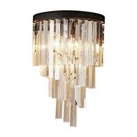 Кристалл Бра Настенные светильники Винтаж Дом Освещение Бра кристалл для Спальня настенное бра E14 светодио дный лампы