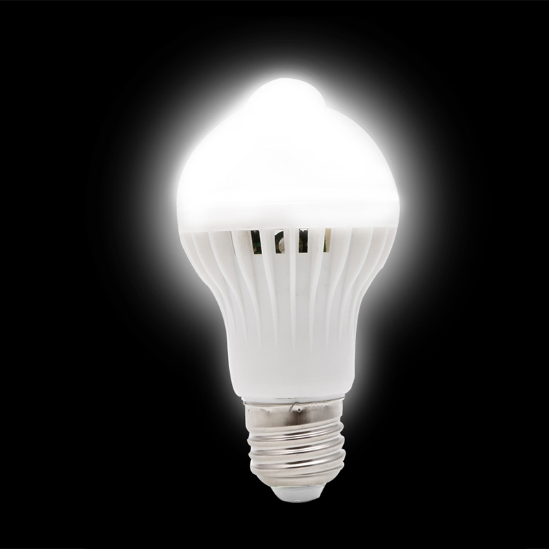 9W E27 LED PIR Motion Sensor Auto Energy Saving Light Lamp Bulb Infrared in LED Bulbs Tubes from Lights Lighting