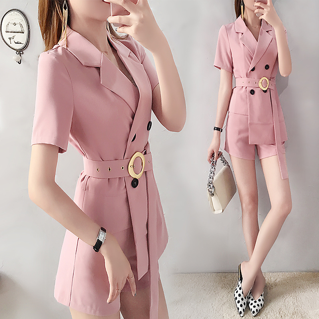 3c87bfaa39 Fashion women's small fragrance style suit shorts suit female 2019 new  summer fashion temperament two-piece Loose Wild