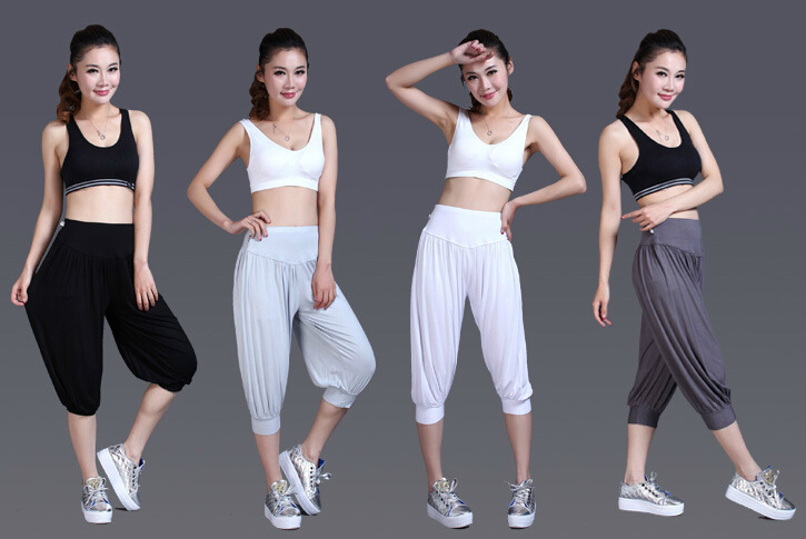 Yoga Suits Large Size Women Skinny Pants Seven Modal Taiji Sports Pants Women Female Body Shape Half Athletics Loose Comfortable Pants Motocross Pant Skirtpants Plus Size Women Aliexpress