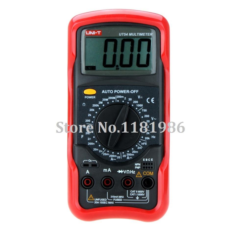 UNI-T UT54 Electrical Standard DMM Digital Multimeters Frequency Test Multimetro LCR Meter Ammeter Analog Multitester  цены
