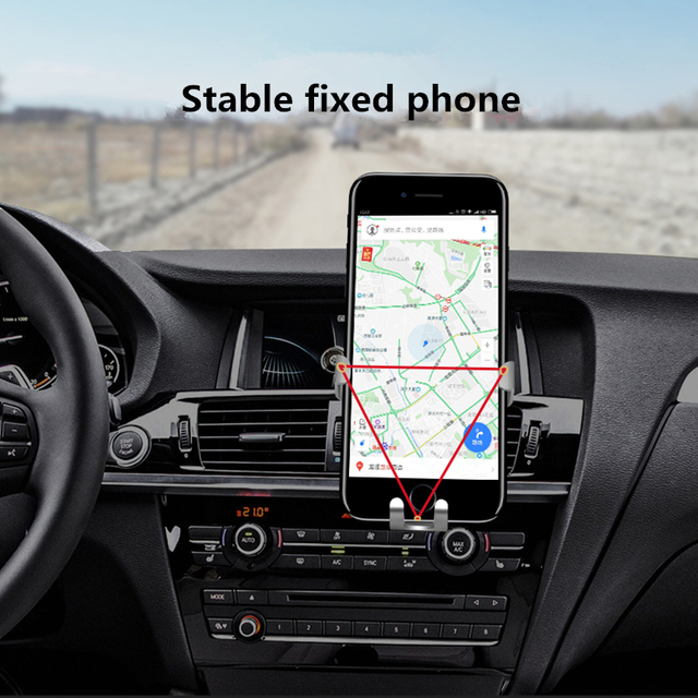 UEESFIT Gravity Bracket Car Phone Holder Flexible Universal Car Gravity Holder Support Mobile Phone Stand For iPhone Samsung