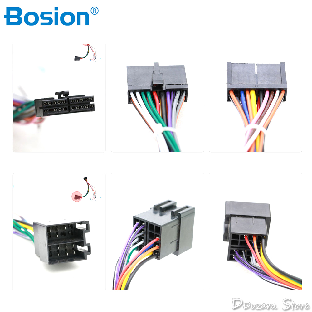 Universal Iso Wire Harness Female Adapter Connector Cable Radio Wiring Connector Adapter Kit For