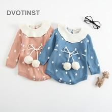 Dvotinst Newborn Baby Girls Clothes Knit Crochet Full