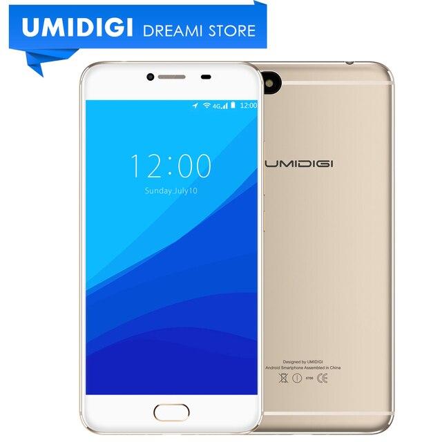 """Umidigi C Note MTK MT6737T 64 Бит Металла Мобильного Телефона 5.5 """"3 ГБ RAM 32 ГБ ROM 3800 мАч Батареи Серый Цвет Золота 4 Г LTE Смартфон"""