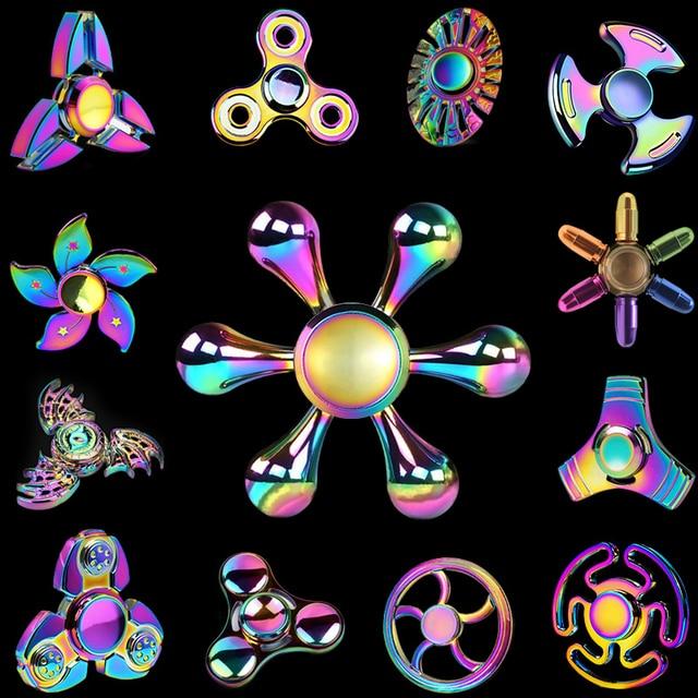 Rainbow Ferris Wheel Polar Lights Fidget EDC Spinners Hand Spinner Figet Finger Spiner Toys for Anti stress Children Kids Gift