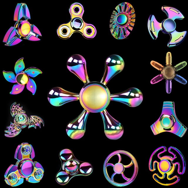 Rainbow Ferris Wheel Polar Lights Fidget Tri Spinners Hand Spinner Figet Finger Spiner Toys for Anti stress Children Kids Gift