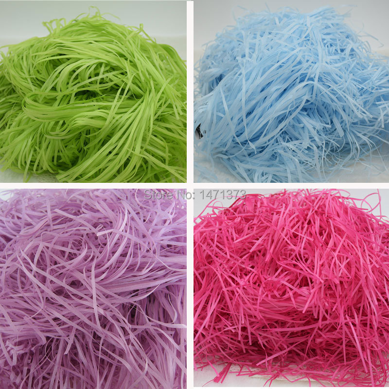 Wonderful Wholesale Brand New DIY Craft material Shred paper Rayon Raffia  II21