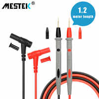 Cables de prueba de sonda multímetro, Pin para multímetro Digital, medidor de punta de aguja, Cable de lápiz de sonda de plomo de 20A 1000V