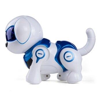 Filhote de cachorro cão dança inteligente caminhada controle remoto inteligente rc robô cão brinquedos eletrônicos para crianças brinquedo cão que caminha e late
