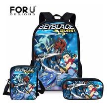 FORUDESIGNS Orthopedic Schoolbags Backpack Teenager Girls Boys Schoolbag Travel Beyblade Burst Prints Cartoon Book Bags