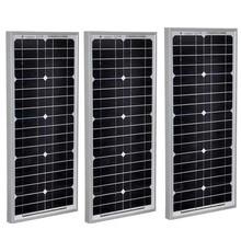 Waterproof Solar Panel 12v  20w 3 Pcs Modules Battery Charger Off Grid System Car Camp Caravan Motorhome LM