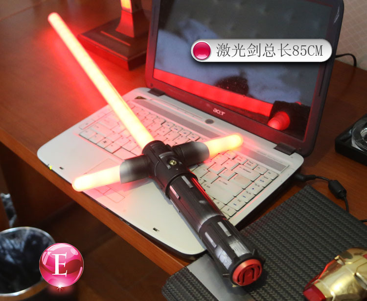 Star Wars 7 laser épée croix sabre laser rouge de jeu de rôle accessoires enfants en plein air Noctiluca jouets