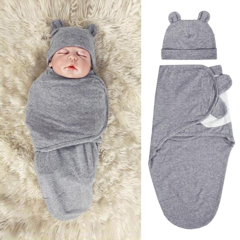 100% Cotton 2Pcs/Set Muslin Baby Swaddle Diaper Infant Newborn Thin Baby Wrap Envelope Swaddling Swaddleme Sleep Bag Sleepsack
