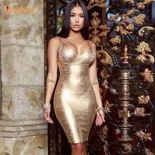Robe dété dorée moulante à bandes, Costume de soirée, nouvelle collection 2020