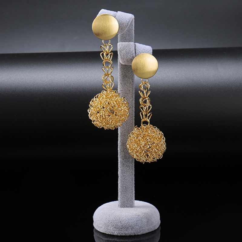 Gold-Color Earrings 1
