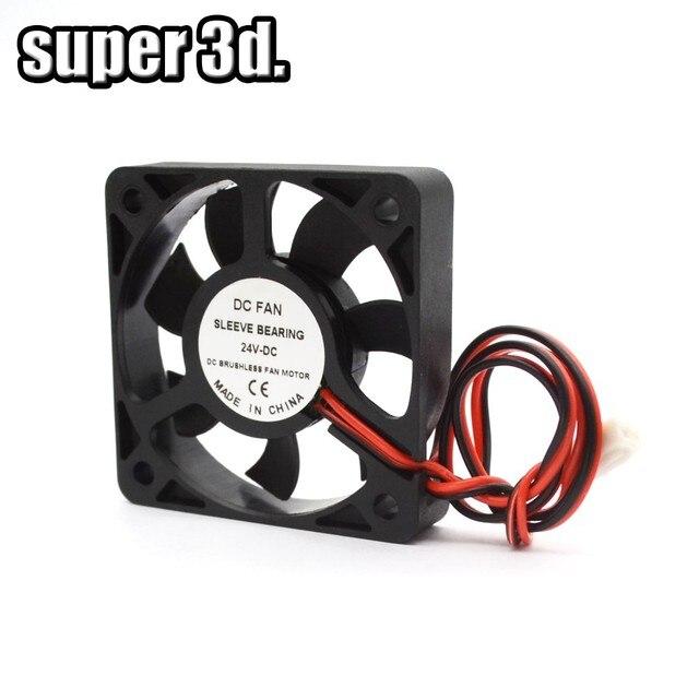 5015/4010/4020 12V&24V Cooling Turbo Fan Brushless 3D Printer Parts 2Pin For Extruder DC Cooler Blower  Part Black Plastic Fans 6