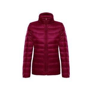 Image 5 - Vestes en duvet de canard pour femmes, Ultra léger, 5XL et 6XL, manteau chaud à manches longues pour femmes, manteau dhiver, vêtements dextérieur automne