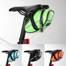 цена на Bike Bag Waterproof Quality PU Cycling Bicycle Seat Saddle Rear Tail Bag Green/Orange/Black/Blue