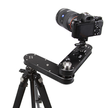 Travel Portable 4 distance 24cm to 70cm mini camera slider adjustable DSLR video dolly track rail moving Slider crane jib