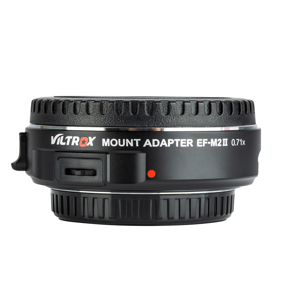 Viltrox EF-M2 II AF EXIF 0.71X Reduce Speed Booster Lens Adapter Turbo for Canon EF lens to M43 Camera GH4 GH5 GF6 GF1