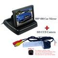 "4.3 ""Color TFT LCD de Coches Espejo Retrovisor + Visión Nocturna de Gran Angular Cámara de Visión Trasera para VW Passat B5.5/Passat LingYu"