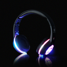 Bluetooth LED Light glowing Headphones Wireless Stereo Headset Headphone Handsfree Earphone + Mic for iphone HTC Xiaomi Huawei