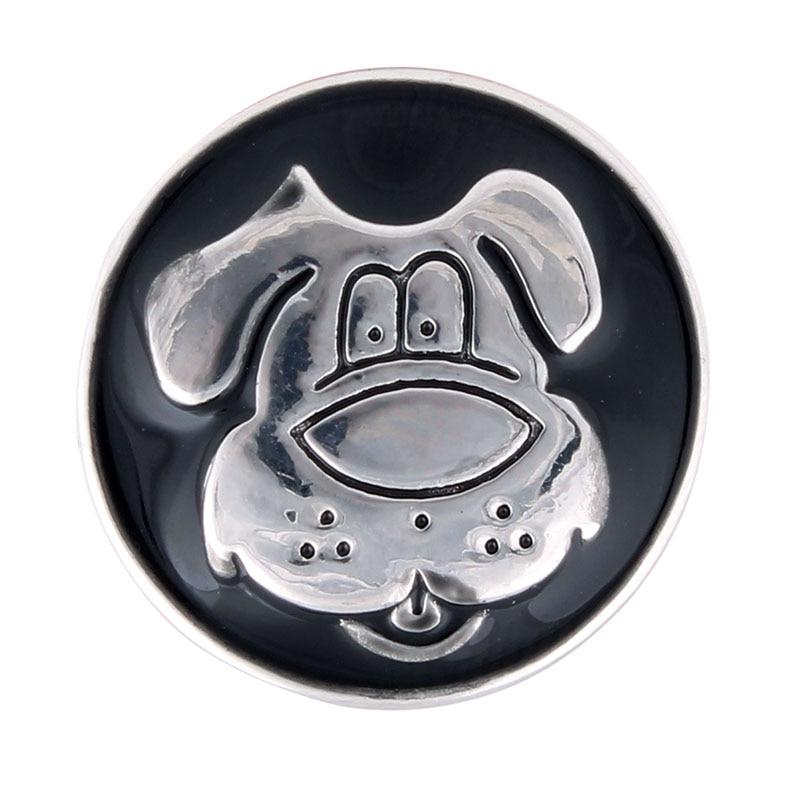 10pcs/lot Hot Sale Snaps Button 18mm Charms Dog Metal Snaps For Bracelet Jewelry ZA289