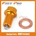 M12x1.25 CNC Billet Aluminum Magnetic Oil Drain Plug Bolt Fit SUZUKI RMZ250 07-16 DRZ400S DRZ400E DRZ400SM 00-15 Dirt Bike