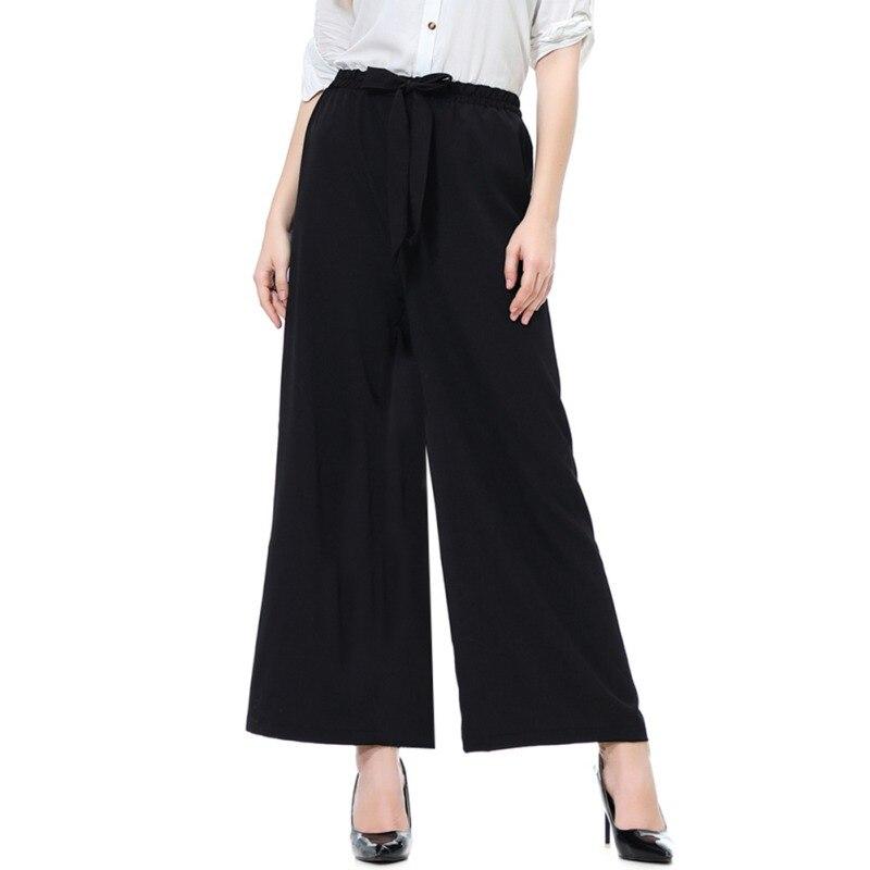 Ladies Office   Pants   Fashion Loose Long   wide     Leg     Pants   Woman High Waist Casual   Pants   For Women