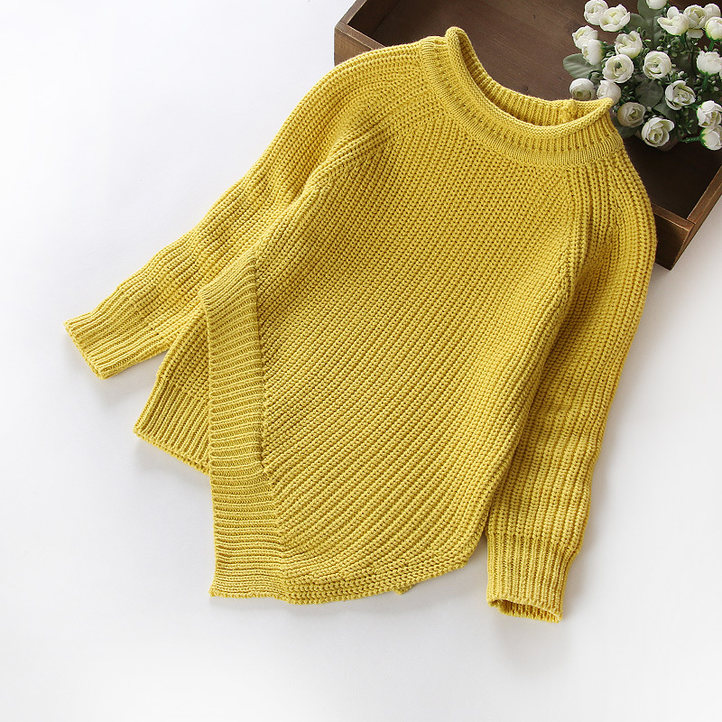 Retail New 2016 Spring Autumn Kids Babys Boys Girls Knitting Pullover Irregular Sweater Clothes WYY259