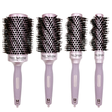 Højkvalitets Rose Gold Professional Boar Bristle Comb Nano Technology Ionic Hair Keramisk Brush Comb For Hair Curling Anti Static