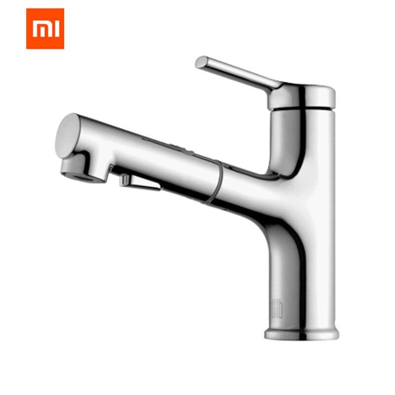 Original Xiaomi Mijia Dabai Bathroom Basin Faucet With Pull Down Sprayer 2 Spray Mode Single Lever Handle Mixer Tap