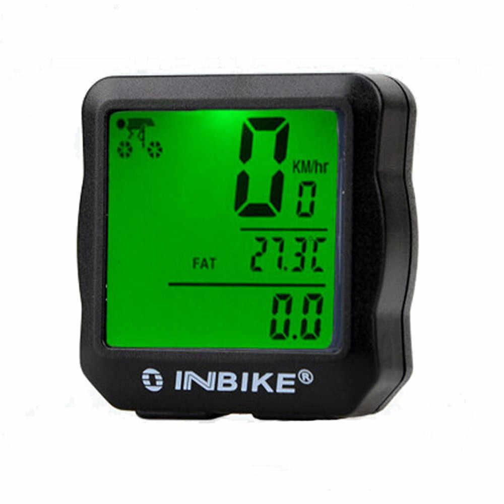 2019 Tahan Air Backlit Sepeda Komputer Odometer Speedometer Sepeda Komputer dengan Irama GPS Speedometer Sepeda 40J10