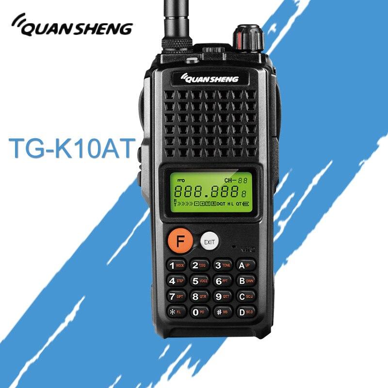 10W QuanSheng TG-K10AT Walkie Talkie 10km TG K10AT Radio Comunicador 10 Km UHF400-470MHz Optional VHF Band Two Way Radio 4000mAh