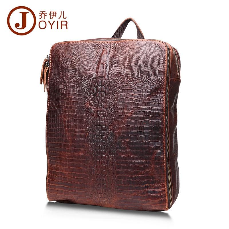 ФОТО 2017 Sale Printing Backpack Mochila Escolar Kpop Genuine Leather Men's Retro Leisure For Grain To Shoulder His Bag Backpack