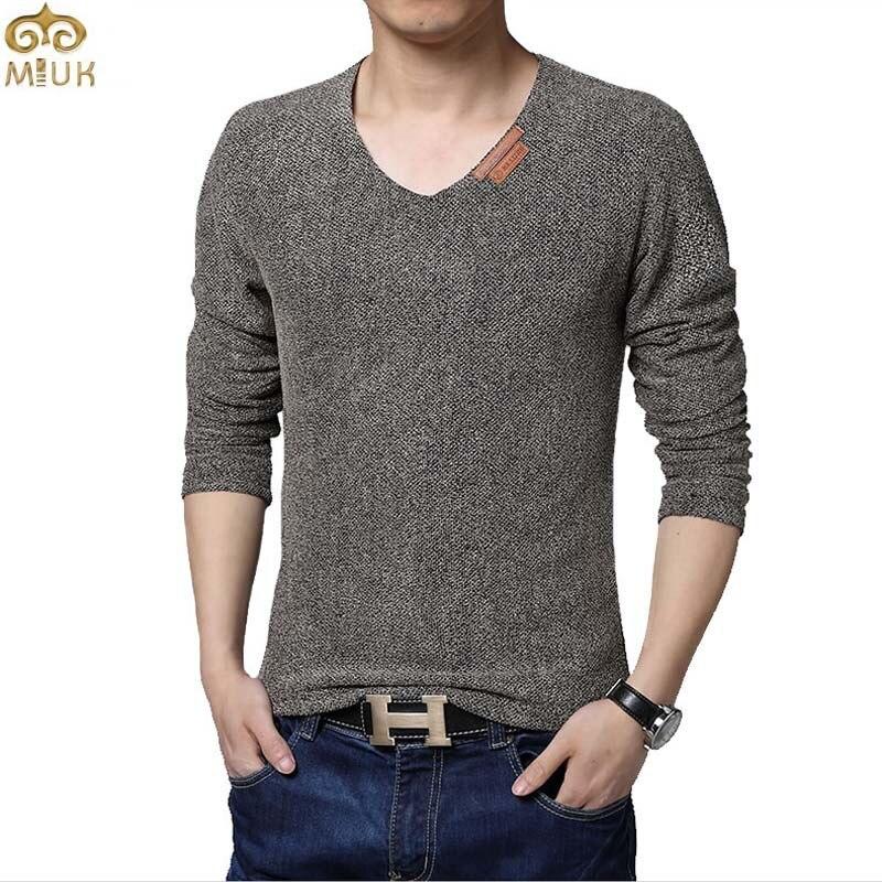 MIUK Super Large Size Solid T Shirt Men 6XL 5XL V Neck Hip ...