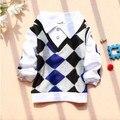 2017 nova Primavera meninos roupas de bebê de algodão turn-down collar bebê t-shirt A149