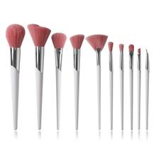 Fenty Stil 10 adet/takım Makyaj Fırçaları Güzel Beyaz pudra fırçası Şekillendirici Allık Fırçası Göz Farı Karıştırma Kozmetik Fırça Seti