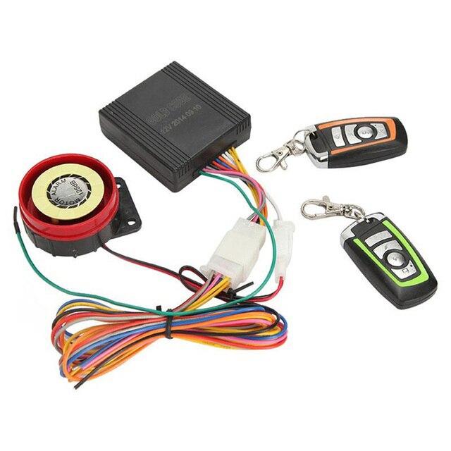 Motorcycle Bike Scooter Alarm Lock Motorbike Anti-theft Security Alarm Moto Remote Control Alarm System Protection Engine Start
