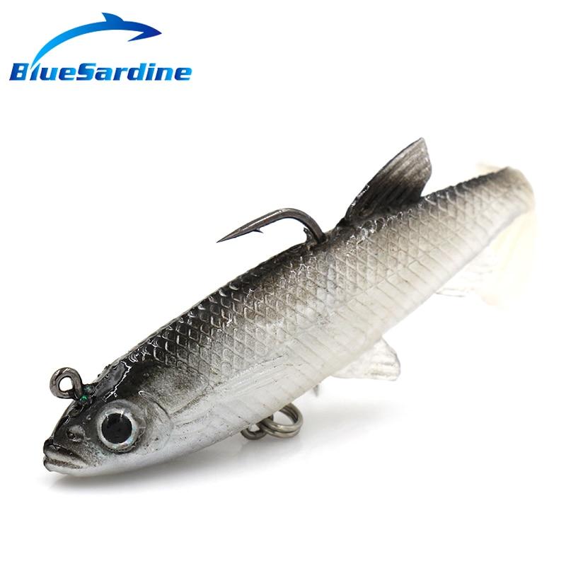 BlueSardine 10PCS 14G 8.6CM Yumşaq Lures Bait Balıqçılıq Lures Plastik Isca Süni Yumşaq Lures Balıqçılıq Üçün Balıq