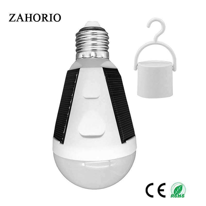 Gitex Rechargeable Led Bulb E27 LED Solar Lamp 7W 12W 85V 265V Outdoor Emergency Solar Powered