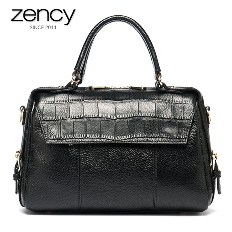 Zency Real Cow Genuine Leather Ladies Women Handbag Shoulder Tote Bag Pillow Hign Quality Designer Luxury Brand Messenger donghong real cow leather ladies hand bags women genuine leather handbag shoulder bag hign quality designer luxury brand bag